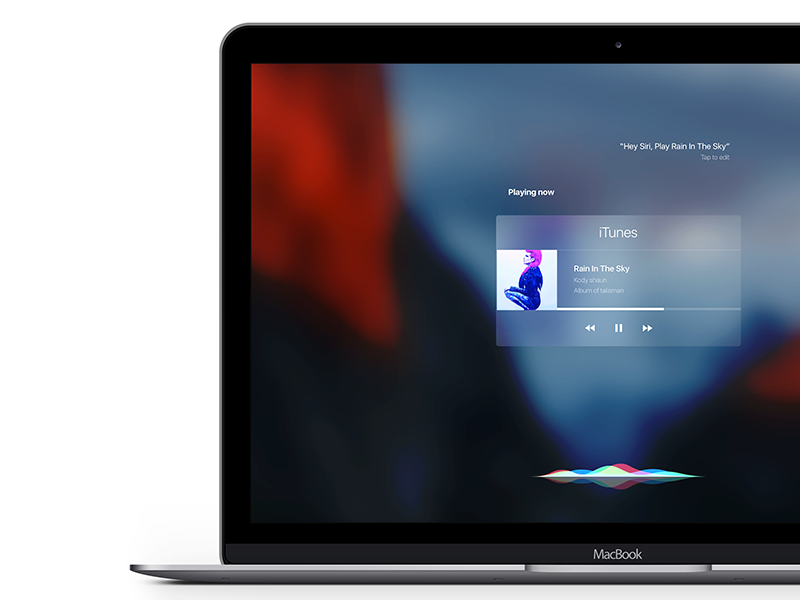Siri OSX El Capitan assitant siri music animation login apple capitan itunes yosemite mac osx
