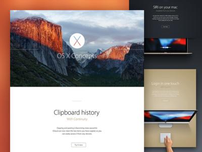 OS X Concept - presentation open start fingerprint touchid login apple capitan el yosemite mac osx