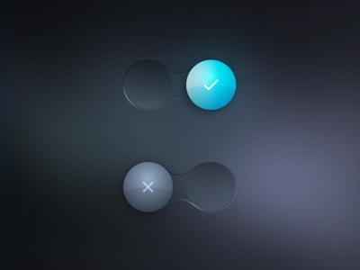 UI Switch element blue glow activate false true skeumorphism switcher boolean switch ui