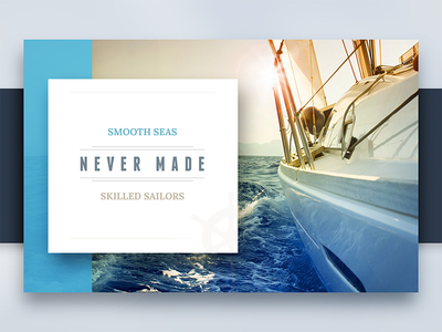 Quote mockup skilled made seas smooth sailor life boat saying quote ui collage flat