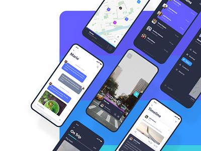Navigo UI Kit 3d design ride uber timeline ar adobe kit map transport ui animation