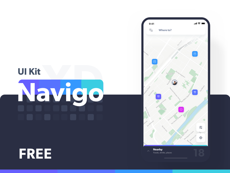 Navigo UI Kit - Branding & Logo Design branding typogaphy logo animation ui transport map kit adobe ar uber design