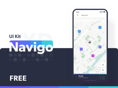 Navigo UI Kit - Branding & Logo Design branding typogaphy logo animation ui transport map kit adobe ar uber design