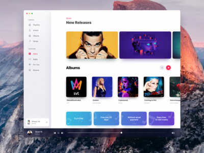 Apple OS Music Redesign available