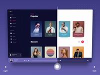Apple Music 3d parallax