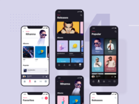 Apple Music Redesign Dark