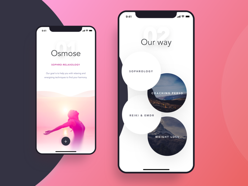 Osmose Relaxation Landing Page