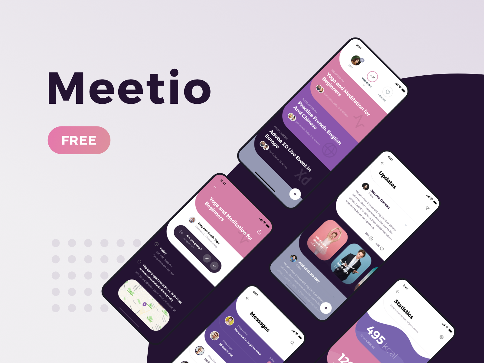 Meetio free ui kit 2
