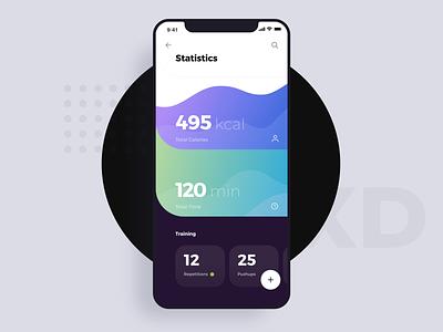 Data Visualization UI Kit dashboard analytics charts infographics info visualization data statistics stats ios design list interface app ui flat