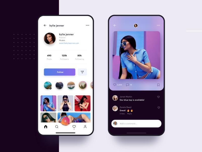 Instagram Redesign Visual Concept by Aurélien Salomon ➔ for Orizon