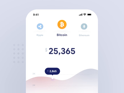Pull To Refresh 3D Interaction - 3D motion UX Design ripple ether smooth micro interaction crypto currency bitcoin crypto finance concept transition motion design mobile animation interface material flat ui app