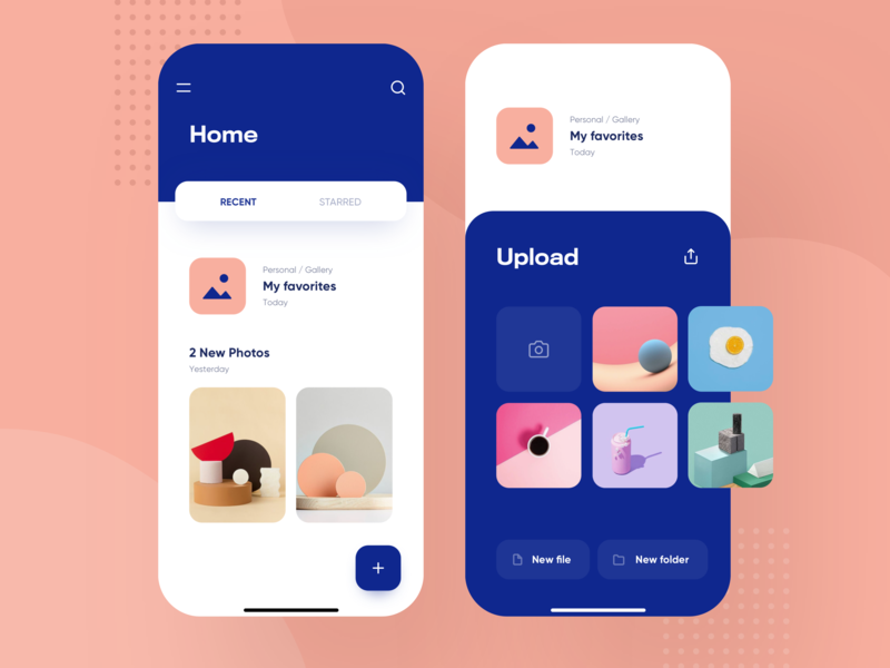 Dropbox Redesign Concept - Mobile Product Design bold design app ui apple futur modern clean ios device drive gallery photo explorer folder files finder concept redesign dropbox
