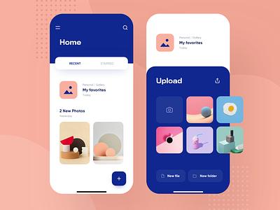 Dropbox Redesign Concept - Mobile Product Design bold design app ui apple futur modern clean ios device drive gallery photo explorer folder files finder concept redesign dropbox