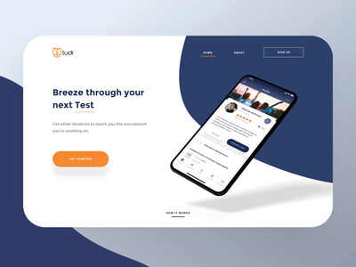 Study - Case study Landing Page motion & Branding for Students colors cards tudr conversion engagement typography scoll paralax students website web motion logo ios phone animation 3d brand branding landing