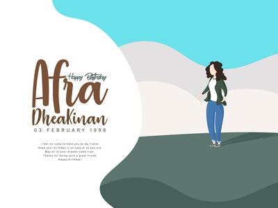 Happy Birthday Afra
