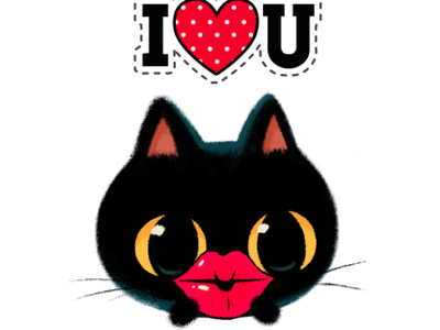 Be My Valentine😻🌹💌 stickers for imessage imessage stickers stickers emoji design characters cat catlover lips heart photoshop character illustration cute valentine valentines