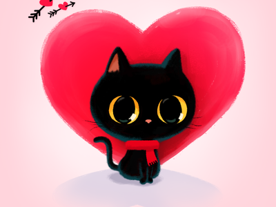 Be My Valentine😻🌹💌 stickerspub emoticon emoji stickers valentinesday heart gift blackcat drawing illustration cute cat character facebook messenger imessage stickers stickers for imessage valentine