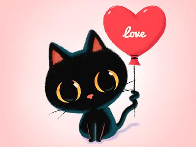 Be My Valentine😻🌹💌 digitalart emoji set emojiexperts character illustration drawing doodle cute emoji stickers valentine day event sweety valentine cat heart love balloon