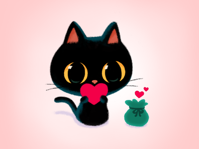 Happy valentine's day💘 illustration cute drawing couple gift valentine valentinesday heart love education blackcat emoticon emoji stickers stickers for imessage character