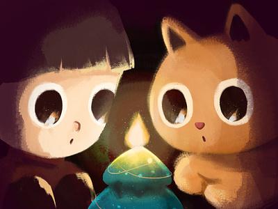 Merry Christmas🎄 xmas character illustration cute doodle drawing cat merry xmas christmas tree christmas