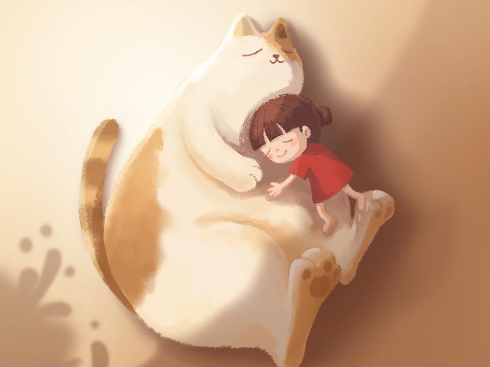 Huge Cat illustration design character