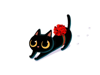 I'm here for you.  Lovely Christmas with my Ash! everyday art characterdesign doodle emoji design cat photoshop illustration drawing blackcat cute christmas character