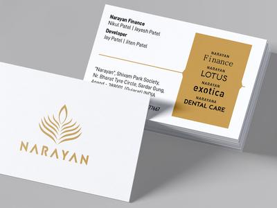 Narayan Exotica Business Card Design