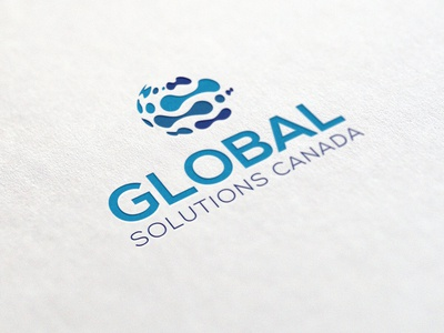 Global Solution Canada Logo Design