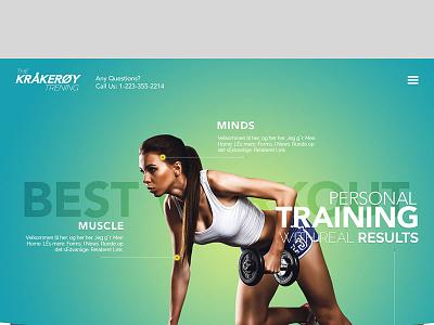 FitnessStartup fitness infographic flat design healthy website fitness website blue website ux design ui design web design graphic design