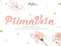 Primavera handwritten brush font. Free download!