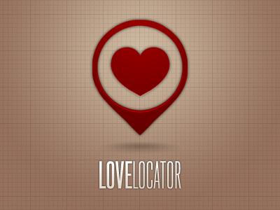 Love Locator logo red social