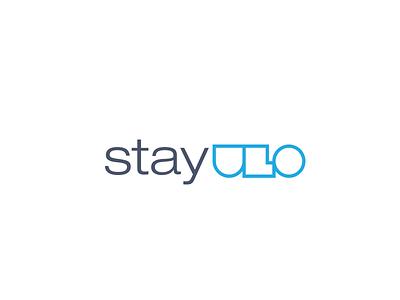 StayUlo logo minimal blue logo