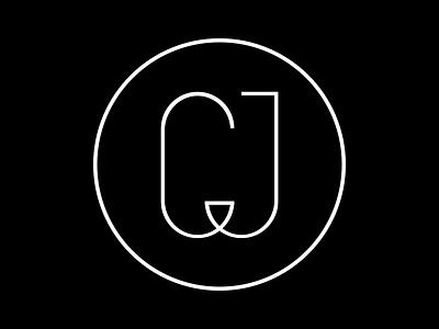 CJ Logo personal white black logo cj