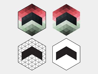 Airbrne Logo Varients white black geometry logo