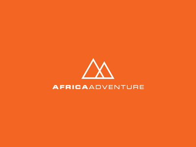 Africa Adventure adventure africa white orange geometry logo