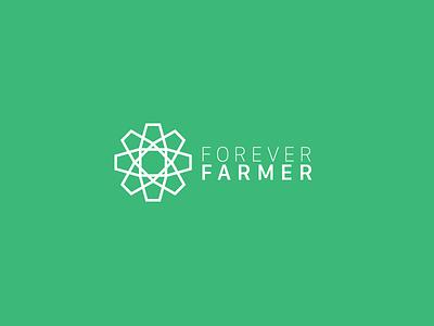Forever Farmer food logo geometric farmer forever