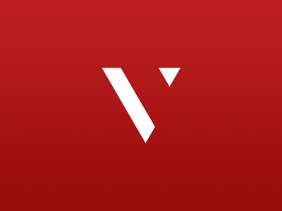 Venessa personal logo red v