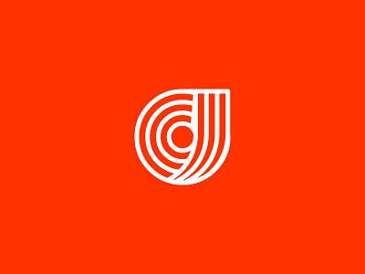 CJ logo white orange craig jamieson logo cj