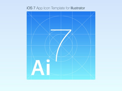 ios 7 app icon template for illustrator by yoav weiss dribbble