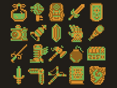 8 bit Zelda/Adventure Items