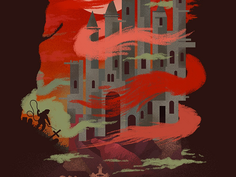 Castlevania castle castlevania game video game graphic poster nes drac dracula belmont manga studio photoshop