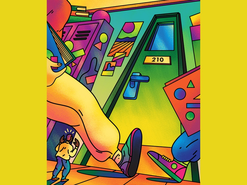 Back to School - BBC Science Focus magazine illustration newspaper illustration magazine vector editorial editorial art editorial illustration art direction colour color graphic illustration