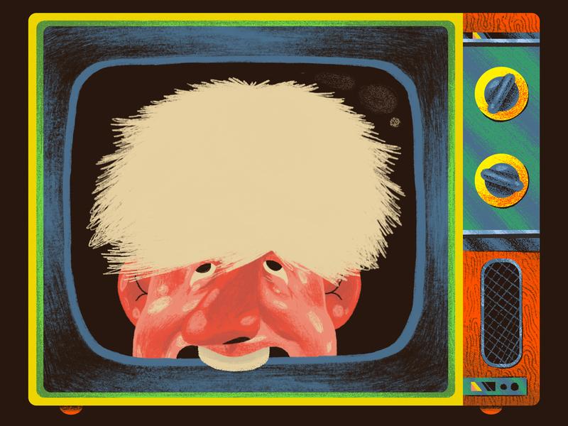 Who Barks can also Bite - De Zeit de zeit politics tv television magazine illustration editorial editorial art editorial illustration newspaper illustration illustration