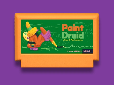 Paint Druid - Famicase Art Show nes famicase famicom videogames videogame game fantasy art show exhibition fun retro character design art direction colour color graphic illustration