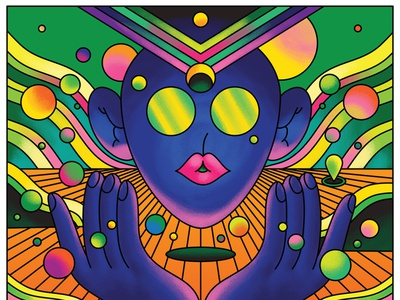 vector artwork psychedelic art psychedelic bold advertising bright design vector retro character design art direction colour color graphic illustration