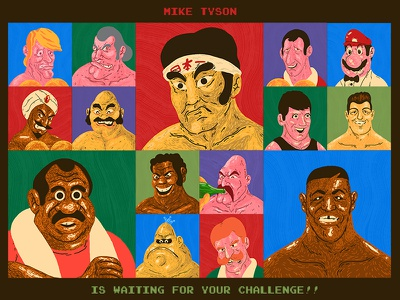 Mike Tyson's Punch-Out!! 30th Anniversary Art Show tribute video game gallery 1988 art show nintendo nes punch-out punch out iron mike mike tyson