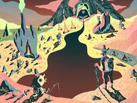 Neon Mountain - wow x wow art show