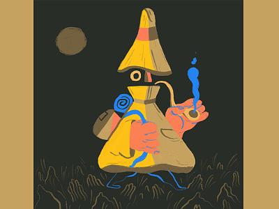 Druid mage hat pipe travel colors self initiated fun procreate character design ipad drawing druid