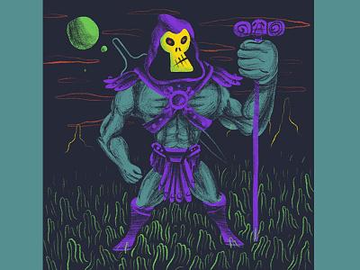 Skeletor character design character he-man motu procreate drawing ipad
