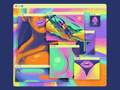 Camboy ShortList Illustration 2 desktop editorial illustration editorial art editorial color colour graphic illustration
